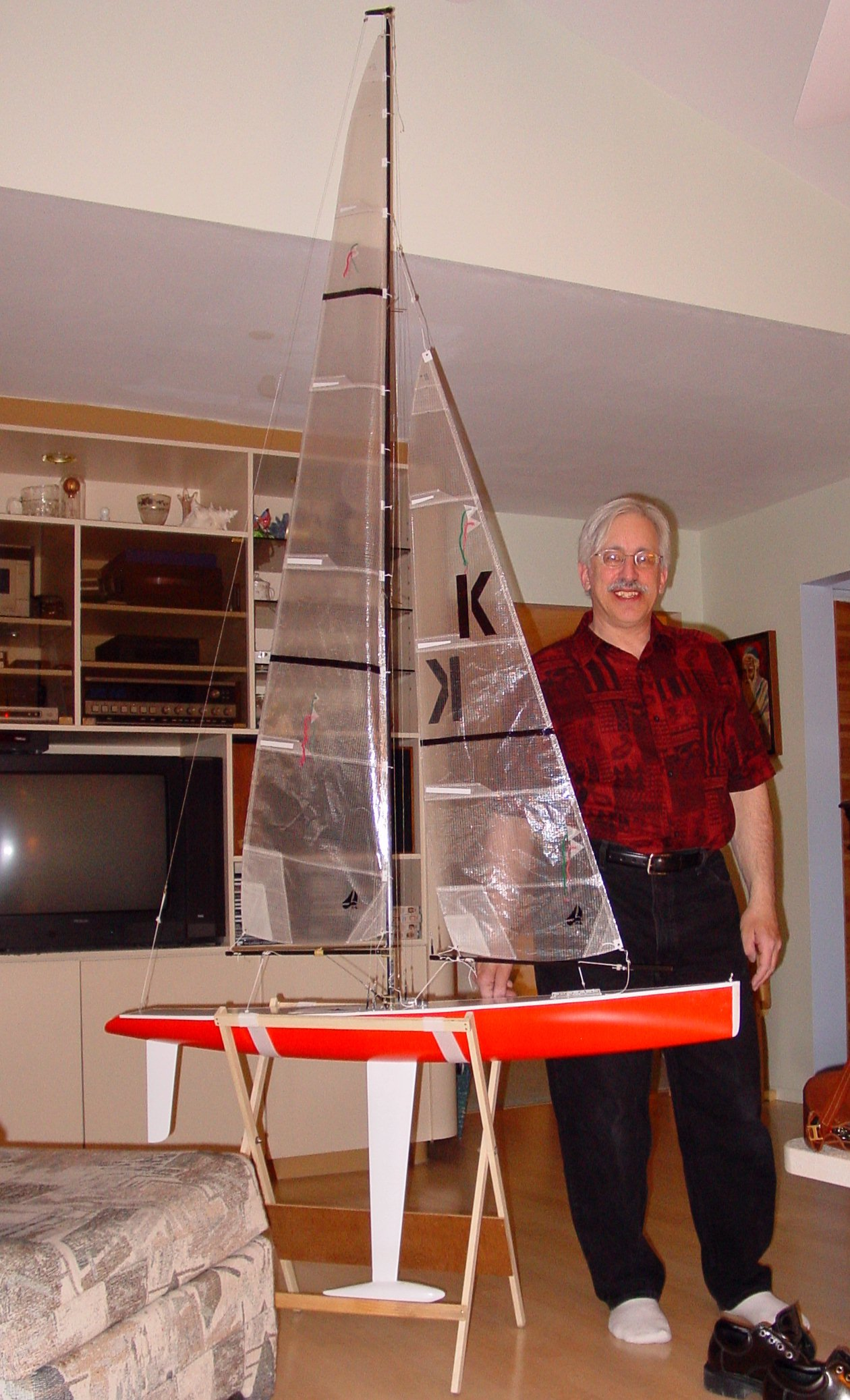 Me and the 50 (Marblehead) RC sailboat.